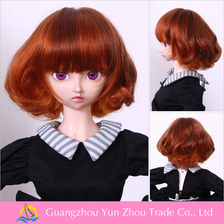 Factory any size is avaliable and high quality for cheap china doll wig wholesale