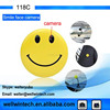 New 118C Mini Hidden Smile face camera with Clip + Mini Hidden Car DVR Camera Digital Video Recorder Hidden HD Pinhole Camera