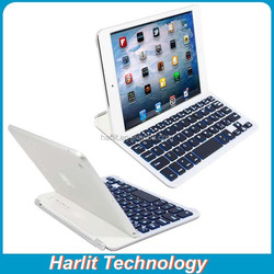 Slim Portable Wireless Bluetooth 3.0 Keyboard for iPad Mini With LED Light Wireless Keyboard Lighted For iPad