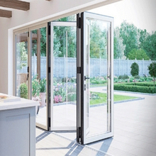 Best quality nice grade fashion design five panel aluminum folding door