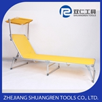 4 position outdoor canopy sun lounger