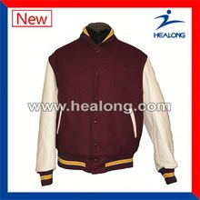 Healong Digital Textile Printing Fashion Girls Baseball Jacket Varsity Jackets
