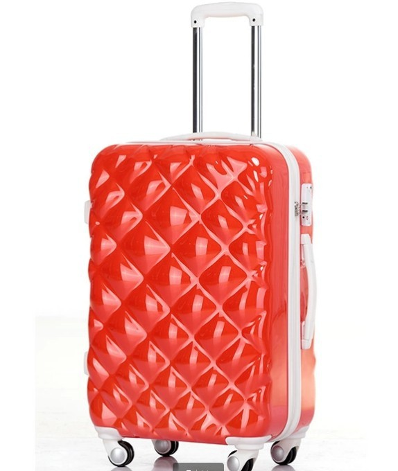 New Design Orange Lady Suitcase for Travel , Cheap Designer Suitcases