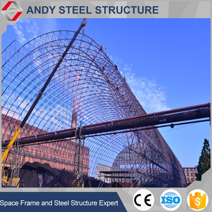 steel frame shed for keeping coal