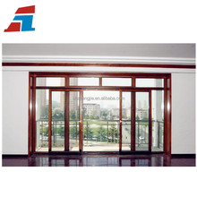 New design high quality double glass sliding door system