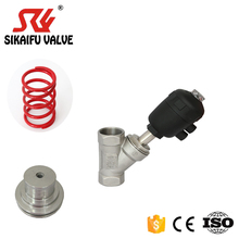 FNPT SS304 pneumatic stainless steel high quality angle seat valve for machinery
