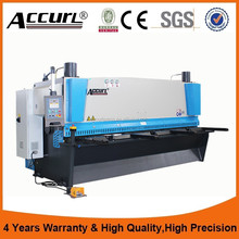 ACCURL QC11Y 6mm thick 2500mm metal plate DAC310 line rail shearing cutting machine