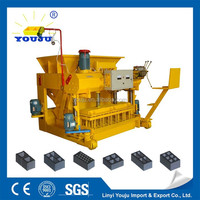 Cheap cement blocks production line QTM6-25 laying a concrete block used