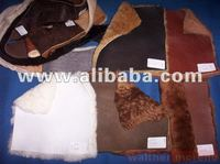 finished sheepskins with wool on