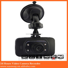 GS8000L dual camera car camcorder/dvr camera/car traffic dashboard , 1080p car DVR camera video recorde