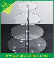 2016 new prodcuts crystal acrylic 4 tier wedding cake stand, acrylic cake holder