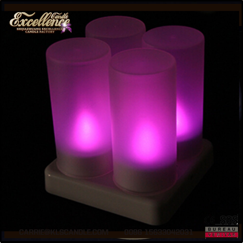rechargeable flameless electric tea light led candle