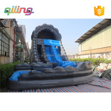 Commercial adult inflatable water slide with pool / inflatable big water slides for sale