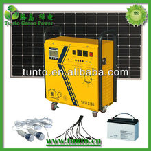 Solar generator system for home+ LED +190 W solar panel + controller + wire full set of configuration