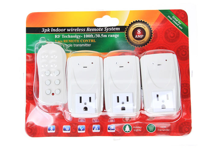 Home Europe type rf wireless power switch
