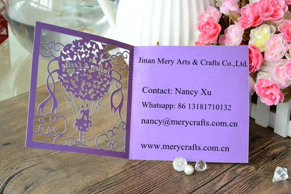 2016 latest wedding card design laser cut white wedding invitations made in China