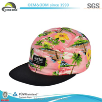 hat wholesale hat floral custom 5 panel hat