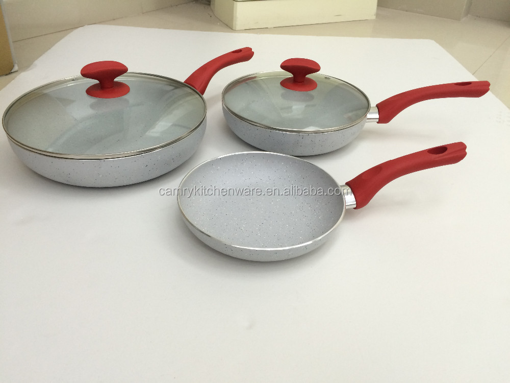 5pcs marble coating fry pans as seen on tv