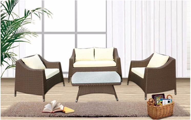 luxury indoor outdoor rattan sofa for wicker garden