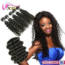100% Unprocessed Virgin Cheap Wholesale Brazilian Deep Curl Weave