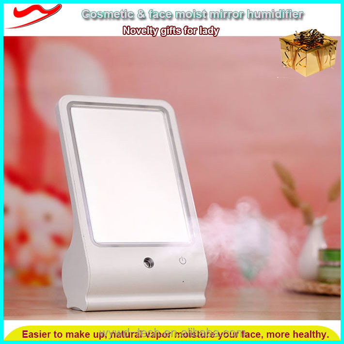 led cosmetic mist mirror / Latest promotional fancy gift items