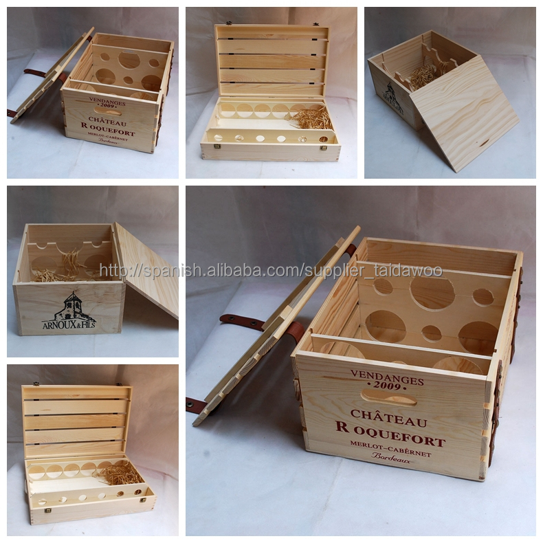 Art minds wood crafts wholesale wooden wine crates buy for Wholesale wood craft cutouts