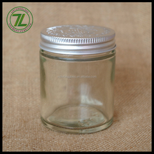 80ml glass ointment straight side jar ointment container with aluminum lid