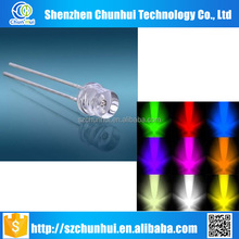 cheap price 5mm led diode flat top color