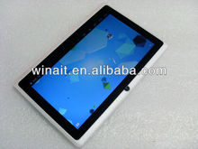Cheapest 7 inches Tablet PC with A13 CPU Android 4.0 Wifi 4G Storage 0.3MP Camera Q88