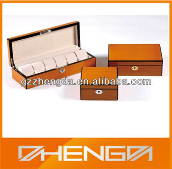 High quality customized made-in-china luxury Wooden Watch Box for watch dispay(ZDW13-015)