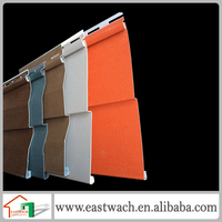 Colorfull wood texture plastic exterior wall cladding