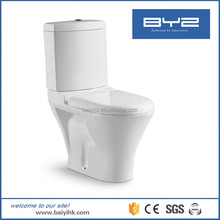 Ceramic human commode two piece toilet