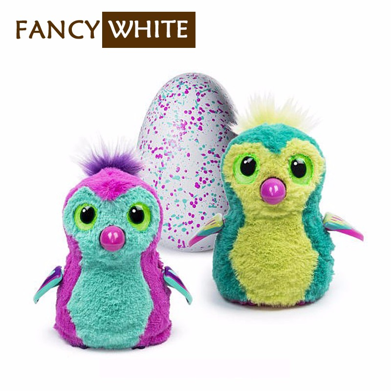Custom new flock material kids cute surprise hatching smart egg toy
