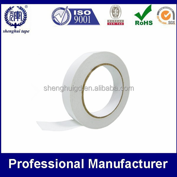 Tissue paper double face tape water based or solvent acrylic adhesive