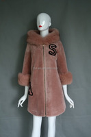 Brand new Shearing Lamb Trend Luxury Lamb Shearing Skin Leather Coat Ladies Long Fur clothes