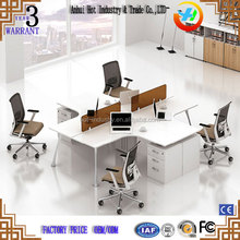 Quality Factory Price White Office Desk for 4 People Office Furniture Standard Office Desk Dimensions