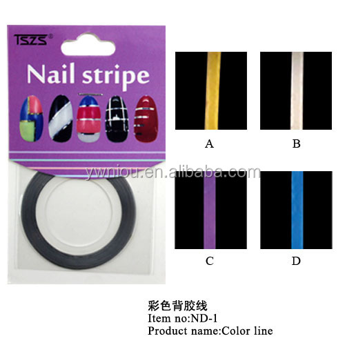 Nail Art Supplies Colorful Striping Tape Line DIY Tips Nail Art Stickers