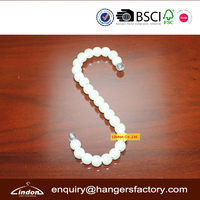 Assessed Supplier LINDON Small S Shaped Hook White Plastic Jewelry Hanger