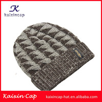 wholesale alibaba customize your own logo fitted 100 acrylic blank custom winter woolen knitting cap