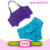 Seersucker Swimsuits Baby Bathing Suit 2PCS Girls Swing Top Bloomer Set Mermaid Swimwear For Kids