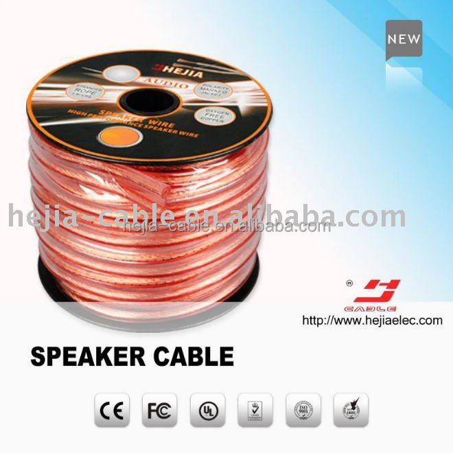 plat speaker cable with CL2 or CL3 rated transparent