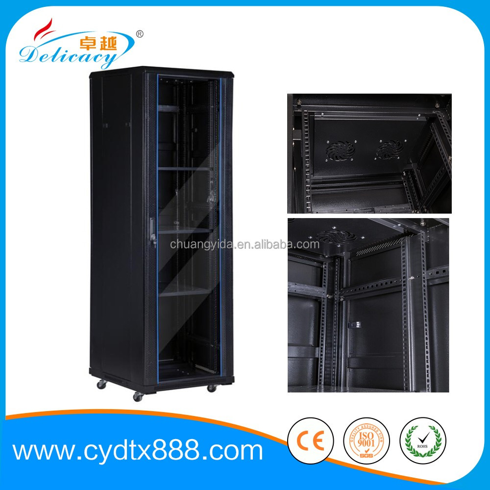 Standing and wall mounted server rack rails