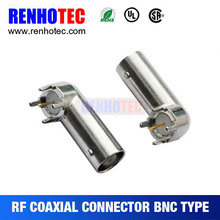 BNC Connector Angle Female 75 ohm PCB Mount