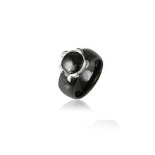 15446 Xuping italian stainless steel neutral ceramic ring, jewelry ring model ladies jewellery