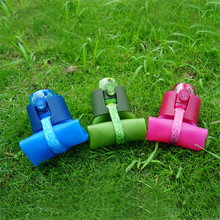 New products 2016 foldable drink water bottle roll up silicone spout kids water bottle
