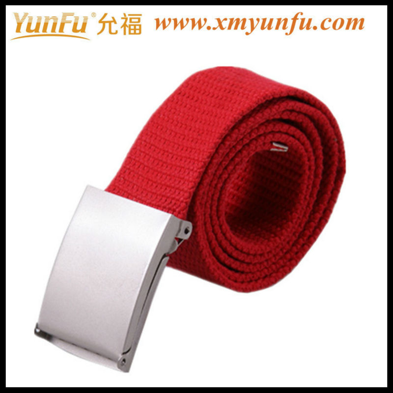 Red fabric belt womens canvas belts