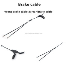 Guofeng Black PVC Coated Stainless Steel Cable Inner Universal Throttle Cable Parts Road Brake Cable