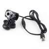USB 2.0 5.0M pixels Webcam Usb 2.0 pc Web Camera Driver 6 LED Microphone for Desktop PC Laptop/led camera light