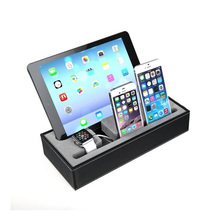 2016 New Leatherette Smart Watch Charging Stand for Apple Watch Phone Tablet PC