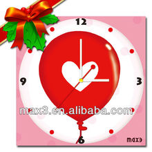 Sweety Heart Metal DIY Wall Clock With Heart For Wedding Decoration